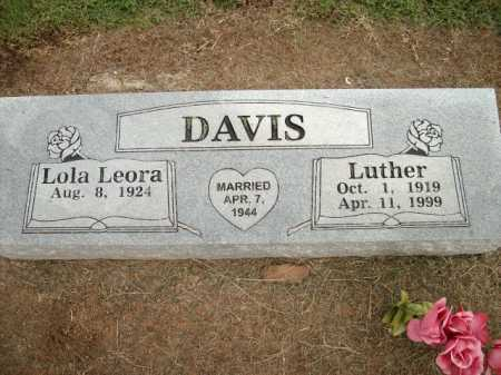 DAVIS, LUTHER - Logan County, Arkansas | LUTHER DAVIS - Arkansas Gravestone Photos