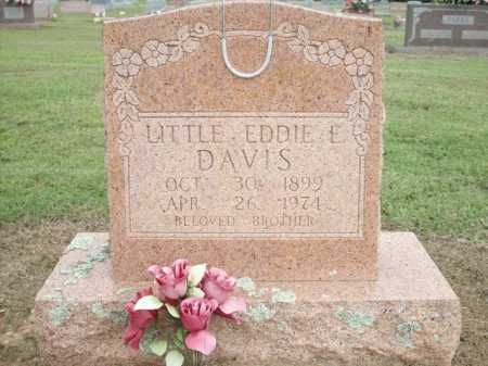 DAVIS, EDDIE E - Logan County, Arkansas | EDDIE E DAVIS - Arkansas Gravestone Photos