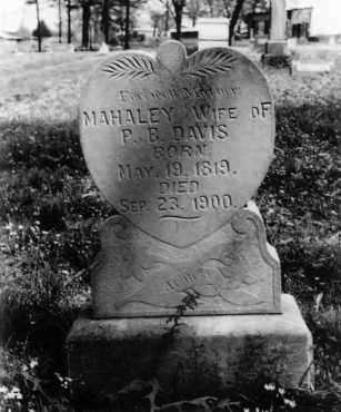 DAVIS, MAHALEY - Logan County, Arkansas | MAHALEY DAVIS - Arkansas Gravestone Photos