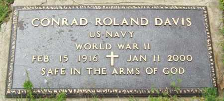 DAVIS (VETERAN WWII), CONRAD ROLAND - Logan County, Arkansas | CONRAD ROLAND DAVIS (VETERAN WWII) - Arkansas Gravestone Photos