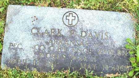 DAVIS (VETERAN WWII), CLARK F - Logan County, Arkansas | CLARK F DAVIS (VETERAN WWII) - Arkansas Gravestone Photos