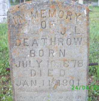 DEATHROW, J L - Logan County, Arkansas | J L DEATHROW - Arkansas Gravestone Photos