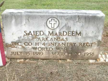 DEEM (VETERAN WWI), SAIED M - Logan County, Arkansas | SAIED M DEEM (VETERAN WWI) - Arkansas Gravestone Photos