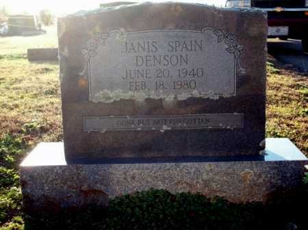 SPAIN DENSON, JANIS - Logan County, Arkansas | JANIS SPAIN DENSON - Arkansas Gravestone Photos