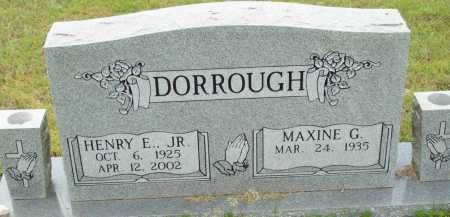 DORROUGH, JR, HENRY E - Logan County, Arkansas | HENRY E DORROUGH, JR - Arkansas Gravestone Photos