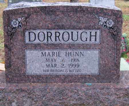 DORROUGH, MARIE HUNN - Logan County, Arkansas | MARIE HUNN DORROUGH - Arkansas Gravestone Photos