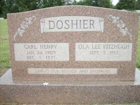 DOSHIER, CARL HENRY - Logan County, Arkansas | CARL HENRY DOSHIER - Arkansas Gravestone Photos