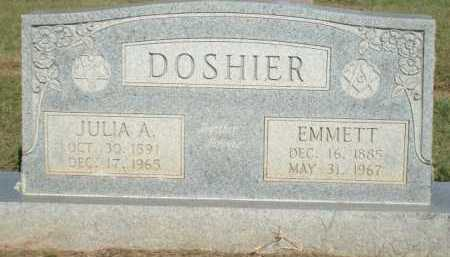 DOSHIER, JULIA A. - Logan County, Arkansas | JULIA A. DOSHIER - Arkansas Gravestone Photos
