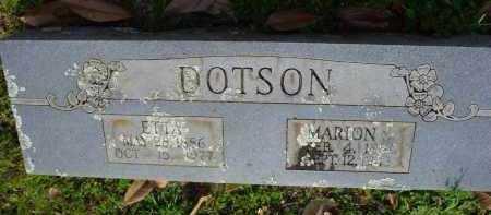 DOTSON, SARAH ETTA - Logan County, Arkansas | SARAH ETTA DOTSON - Arkansas Gravestone Photos