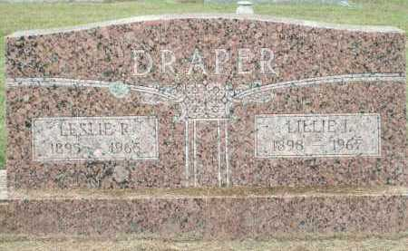 DRAPER, LESLIE R. - Logan County, Arkansas | LESLIE R. DRAPER - Arkansas Gravestone Photos