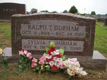 DURHAM, RALPH T. - Logan County, Arkansas | RALPH T. DURHAM - Arkansas Gravestone Photos