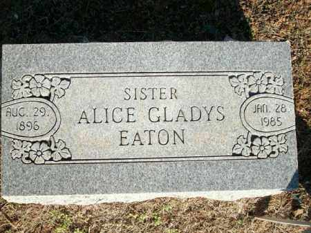 EATON, ALICE GLADYS - Logan County, Arkansas | ALICE GLADYS EATON - Arkansas Gravestone Photos