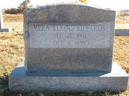 ELKINS EDWARDS, VERA - Logan County, Arkansas | VERA ELKINS EDWARDS - Arkansas Gravestone Photos