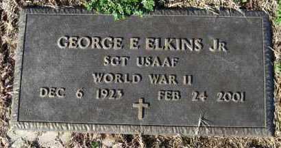 ELKINS,  JR. (VETERAN WWII), GEORGE E - Logan County, Arkansas | GEORGE E ELKINS,  JR. (VETERAN WWII) - Arkansas Gravestone Photos