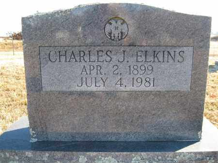 ELKINS, CHARLES J - Logan County, Arkansas | CHARLES J ELKINS - Arkansas Gravestone Photos
