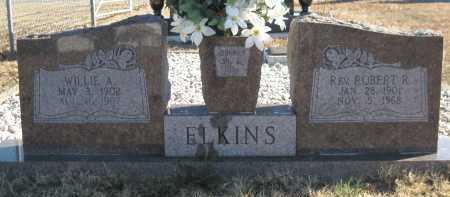 ELKINS, WILLIE A - Logan County, Arkansas | WILLIE A ELKINS - Arkansas Gravestone Photos