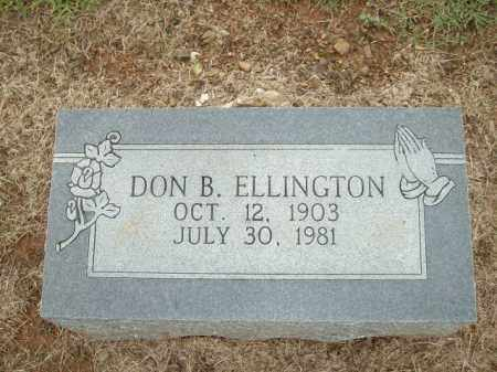 ELLINGTON, DON B. - Logan County, Arkansas | DON B. ELLINGTON - Arkansas Gravestone Photos