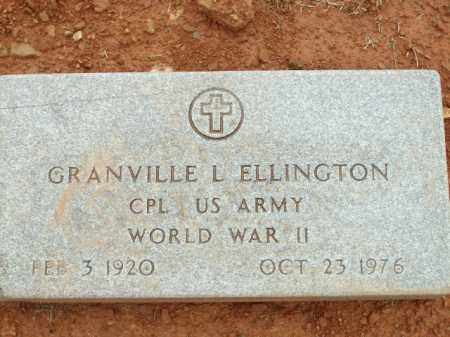 ELLINGTON (VETERAN WWII), GRANVILLE L - Logan County, Arkansas | GRANVILLE L ELLINGTON (VETERAN WWII) - Arkansas Gravestone Photos