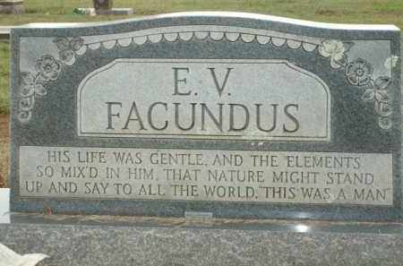 FACUNDUS, E.V. - Logan County, Arkansas | E.V. FACUNDUS - Arkansas Gravestone Photos
