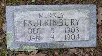 FAULKINBURY, MERNEY - Logan County, Arkansas | MERNEY FAULKINBURY - Arkansas Gravestone Photos