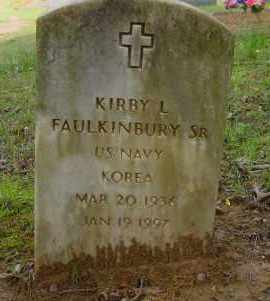 FAULKINBURY, SR (VETERAN KOR), KIRBY L - Logan County, Arkansas | KIRBY L FAULKINBURY, SR (VETERAN KOR) - Arkansas Gravestone Photos