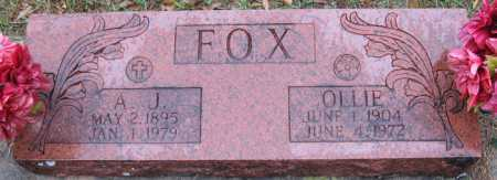 FOX, OLLIE - Logan County, Arkansas | OLLIE FOX - Arkansas Gravestone Photos