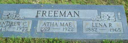 FREEMAN, ANDREW C. - Logan County, Arkansas | ANDREW C. FREEMAN - Arkansas Gravestone Photos
