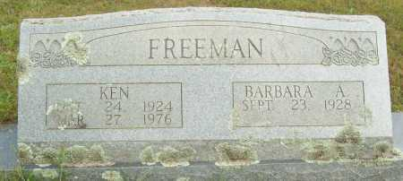 FREEMAN, KEN - Logan County, Arkansas | KEN FREEMAN - Arkansas Gravestone Photos