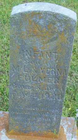 FULMER, INFANT SON - Logan County, Arkansas | INFANT SON FULMER - Arkansas Gravestone Photos