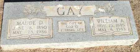 GAY, MAUDE D. - Logan County, Arkansas | MAUDE D. GAY - Arkansas Gravestone Photos
