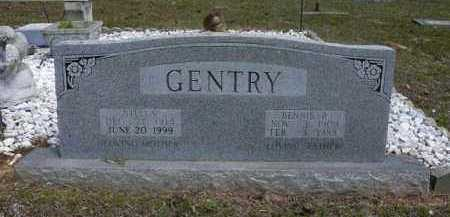 GENTRY, BENNIE - Logan County, Arkansas | BENNIE GENTRY - Arkansas Gravestone Photos