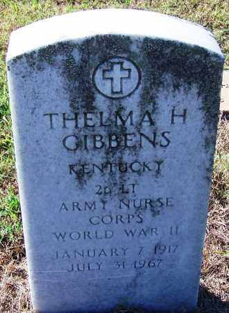 GIBBENS (VETERAN WWII), THELMA H - Logan County, Arkansas | THELMA H GIBBENS (VETERAN WWII) - Arkansas Gravestone Photos