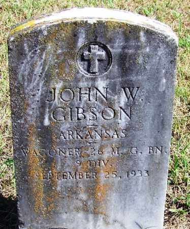 GIBSON (VETERAN), JOHN W - Logan County, Arkansas | JOHN W GIBSON (VETERAN) - Arkansas Gravestone Photos