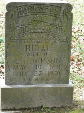 GIPSON, RIDAL - Logan County, Arkansas | RIDAL GIPSON - Arkansas Gravestone Photos
