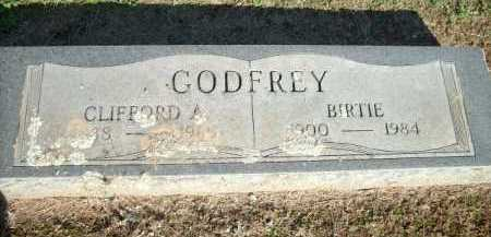 GODFREY, BIRTIE - Logan County, Arkansas | BIRTIE GODFREY - Arkansas Gravestone Photos