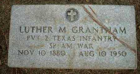 GRANTHAM (VETERAN SAW), LUTHER M - Logan County, Arkansas | LUTHER M GRANTHAM (VETERAN SAW) - Arkansas Gravestone Photos