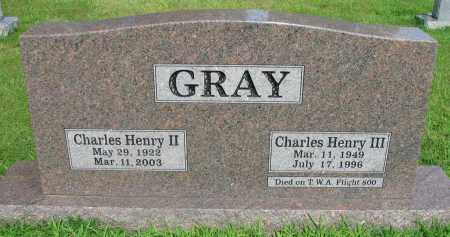 GRAY, CHARLES HENRY II - Logan County, Arkansas | CHARLES HENRY II GRAY - Arkansas Gravestone Photos