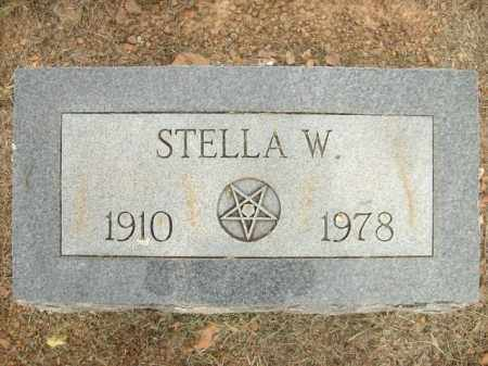 GRIFFEY, STELLA W. - Logan County, Arkansas | STELLA W. GRIFFEY - Arkansas Gravestone Photos