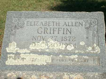 GRIFFIN, ELIZABETH - Logan County, Arkansas | ELIZABETH GRIFFIN - Arkansas Gravestone Photos