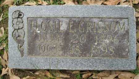 GRISSOM, FLOSIE E - Logan County, Arkansas | FLOSIE E GRISSOM - Arkansas Gravestone Photos