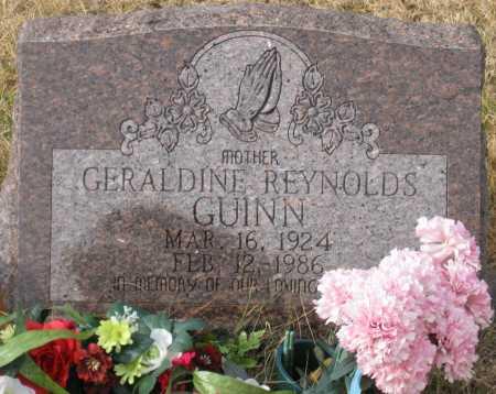 REYNOLDS GUINN, GERALDINE - Logan County, Arkansas | GERALDINE REYNOLDS GUINN - Arkansas Gravestone Photos