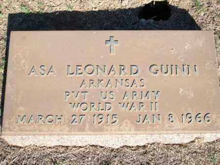 GUINN (VETERAN WWII), ASA LEONARD - Logan County, Arkansas | ASA LEONARD GUINN (VETERAN WWII) - Arkansas Gravestone Photos