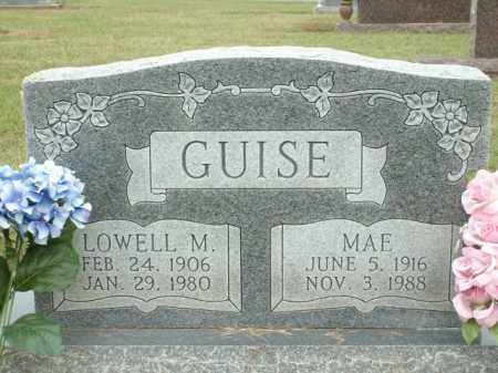GUISE, MAE - Logan County, Arkansas | MAE GUISE - Arkansas Gravestone Photos