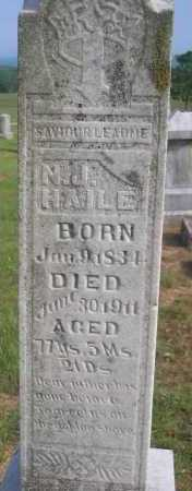 HAILE, N J - Logan County, Arkansas | N J HAILE - Arkansas Gravestone Photos
