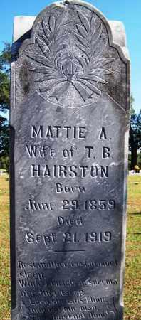 HAIRSTON, MATTIE A - Logan County, Arkansas | MATTIE A HAIRSTON - Arkansas Gravestone Photos