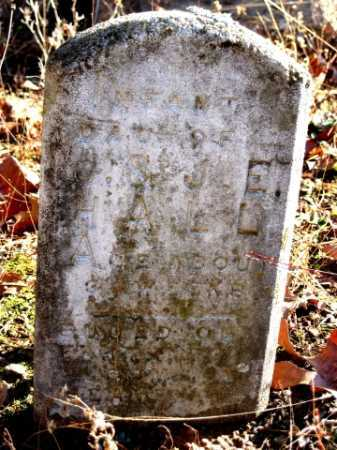 HALL, INFANT DAUGHTER - Logan County, Arkansas | INFANT DAUGHTER HALL - Arkansas Gravestone Photos