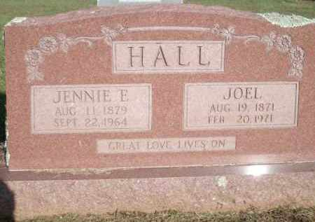 HALL, JENNIE E. - Logan County, Arkansas | JENNIE E. HALL - Arkansas Gravestone Photos