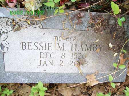 HAMBY, BESSIE M - Logan County, Arkansas | BESSIE M HAMBY - Arkansas Gravestone Photos