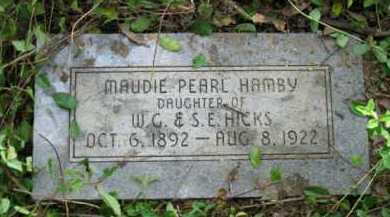 HICKS HAMBY, MAUDIE PEARL - Logan County, Arkansas | MAUDIE PEARL HICKS HAMBY - Arkansas Gravestone Photos
