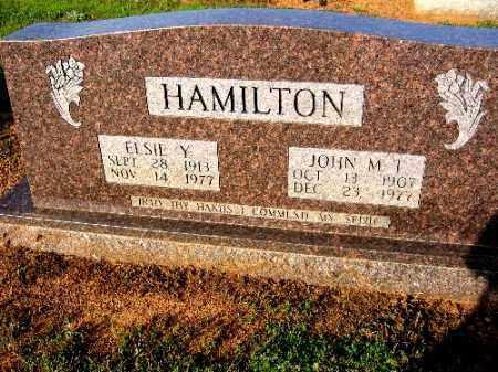 HAMILTON, ELSIE Y - Logan County, Arkansas | ELSIE Y HAMILTON - Arkansas Gravestone Photos